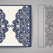 Wedding invitation or greeting card with gold flor...