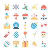 Christmas and Easter Colored Vector Icons 4