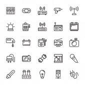 Elektronika vektorové ikony 5