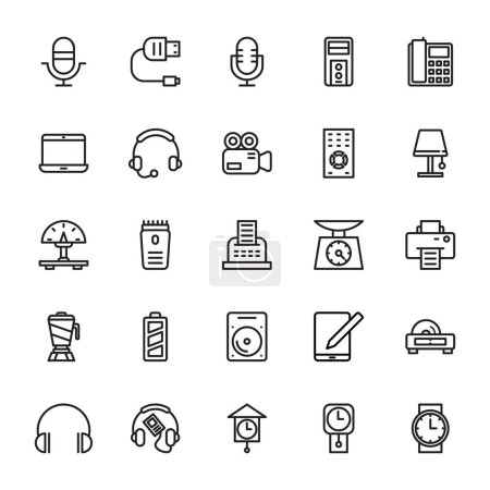 Illustration for Set of Electronics Vector Icons that are great for designers, web design templates, android applications or any kind of personal or commercial project. - Royalty Free Image