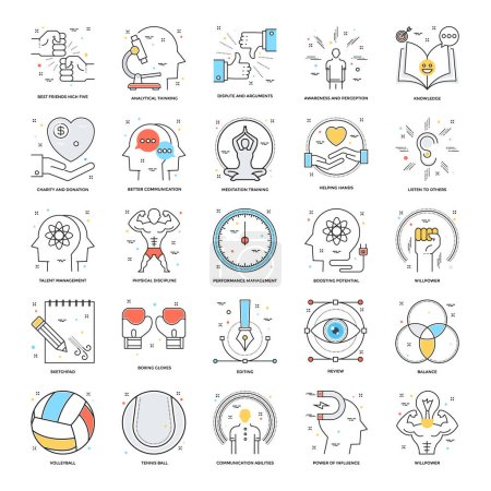 Flat Color Line Icons 19
