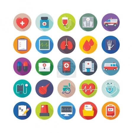 Medical and Health Colored Vector Icons 2