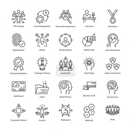 Illustration pour Cette collection d'icônes vectorielles de gestion et de croissance d'entreprise est exactement ce dont vous avez besoin pour votre prochain travail lié à l'entreprise. Extrêmement utile et très amusant à utiliser . - image libre de droit