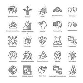 Business Management and Growth Vector Line Icons 31