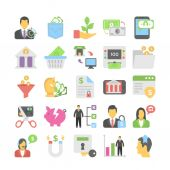 Banking and Finance Flat Colored Icons 6