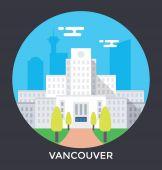 City flat illustration icons