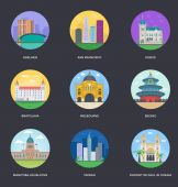 Set of World Famous Cities Illustrations 13