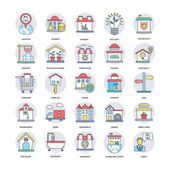 Real Estate Flat Line Icons Set 7