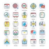 Digital and Internet Marketing Flat Circular Icons Set 5
