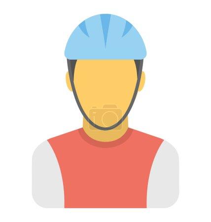 Cyclist Vector Icon