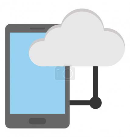 Mobile Cloud Computing Vector Icon