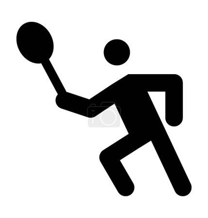 Tennis Player Vector Icon