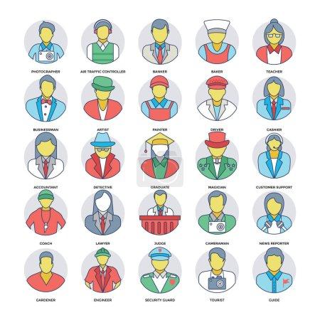 Illustration pour Services professionnels Collection d'icônes vectorielles - image libre de droit