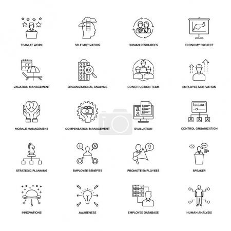 Illustration for Line Icons Project Management - Royalty Free Image