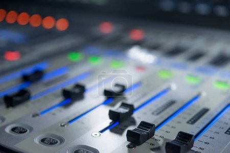 Mixers on the control panel on TV