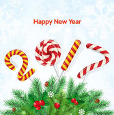 New year greeting card vector illustration