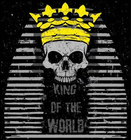 Vector illustration Egyptian Skull T shirt Graphic...