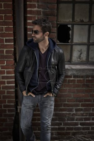 Man in jacket and jeans