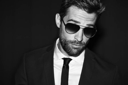 Cool guy in shades and suit
