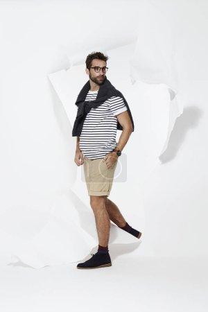 Emerging casual man