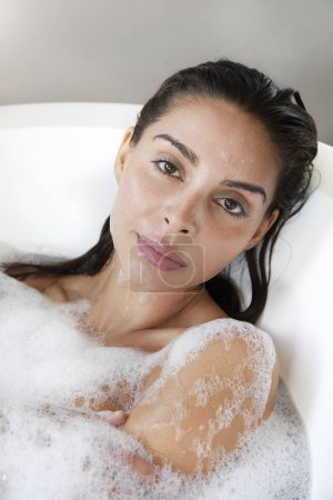 Beautiful woman at bath
