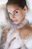 Sensual woman in bath