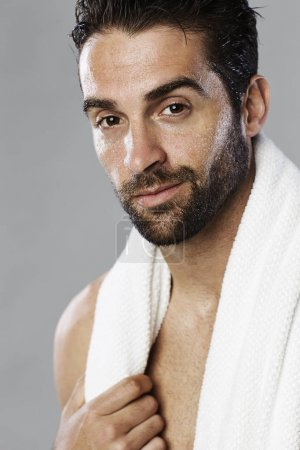 Hot guy with towel