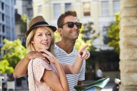 Tourist couple in city