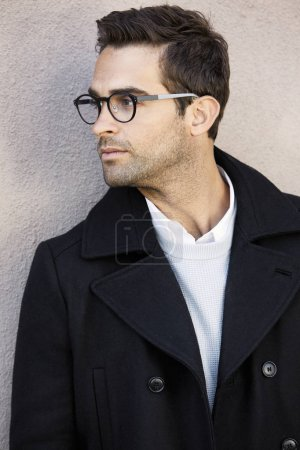 Guy in spectacles and jacket,