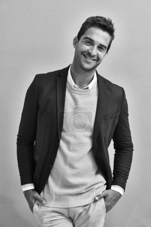 smiling man in suit jacket