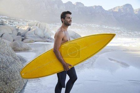 surfer dude on beach