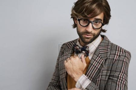 Fashionable geek guy