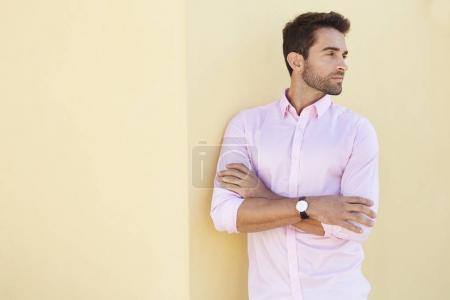 Handsome guy in glasses