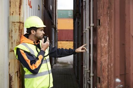 Docker using walkie talkie