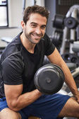 Fitness guy working out