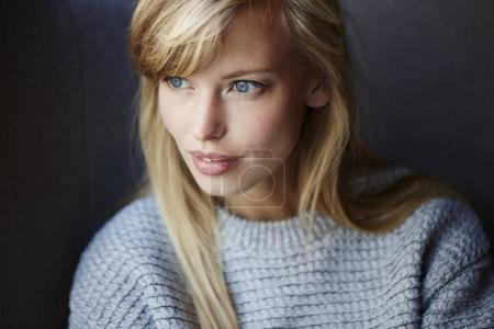 young woman looking aside