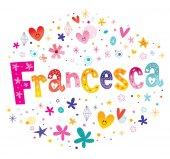 Francesca girls name decorative lettering type design