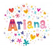 Ariana girls name decorative lettering type design