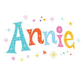 Annie - girls name decorative lettering type design
