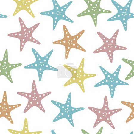 Starfish vintage pattern