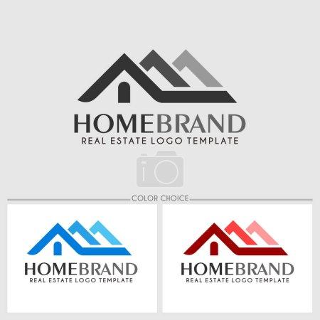 Illustration for Home brand. Real estate logo template. Vector illustration - Royalty Free Image