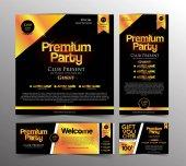 Gold Premium Party Invitation Card