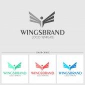 Wings bird logo template Vector illustration