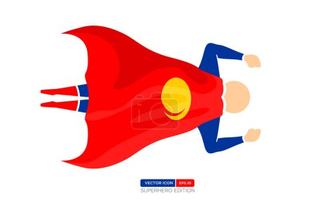Illustration for Superhero Silhouette on white background  Vector illustration - Royalty Free Image