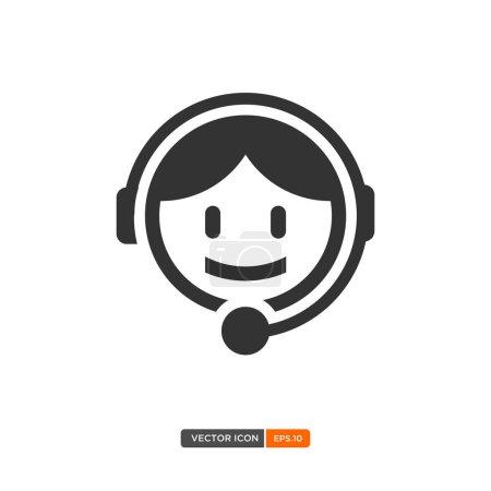 Ilustración de Icono de servicio al cliente. Ilustración de vector - Imagen libre de derechos