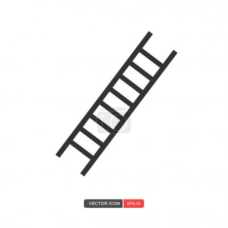 Vector ladder isolated on white