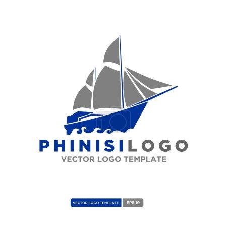 Phinisi logo illustration