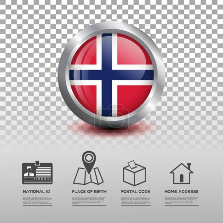 Circle flag in glossy icon