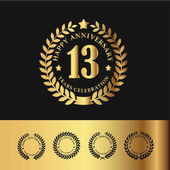 Golden Laurel Wreath 13 Anniversary