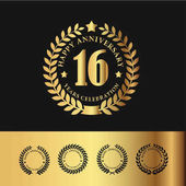 Golden Laurel Wreath 16 Anniversary